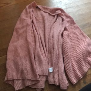 Pink loose fitting cardigan
